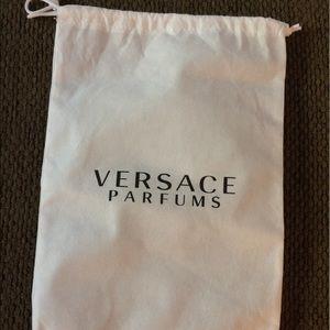 Accessories - Versace  perfum white dust storage bag 14x9
